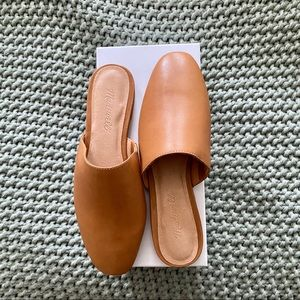 NEW Madewell Cory Mule in English Saddle Leather